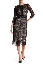 Lace Mix Openwork Dress by The Kooples at Nordstrom Rack