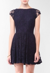 Lace Overlay Dress at Forever 21