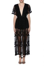 Lace Overlay Romper by Honey Punch at Shoptiques