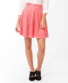 Lace Overlay Skirt at Forever 21