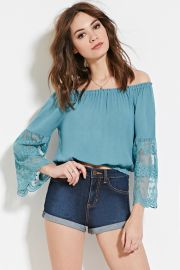 Lace-Paneled Top  Forever 21 - 2000186459 at Forever 21