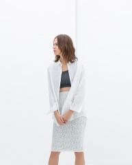 Lace Pencil Skirt at Zara