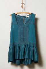 Lace Peplum Tank at Anthropologie