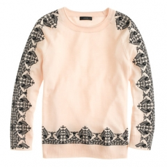 Lace Print Sweater at J. Crew