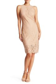 Lace Sheath Dress in Champagne at Nordstrom Rack