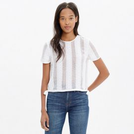 Lace Side Tie Crop Tee at Madewell