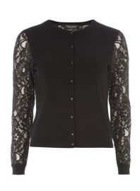 WornOnTV: Maureen's black lace sleeve cardigan on State of Affairs ...
