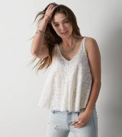 Lace Swing Tank at American Eagle