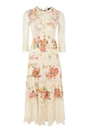 Lace Tier Floral Midi Dress - Dresses - Clothing at Topshop