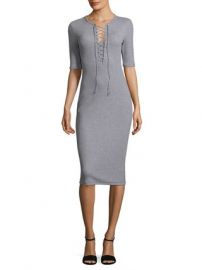 Lace-Up Cotton T-Shirt Dress by Derek Lam 10 Crosby at Gilt at Gilt