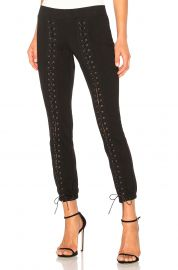 Lace-Up Crop Sweatpants by Pam & Gela at Revolve