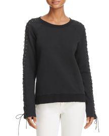 Lace-Up Sweatshirt by Pam Gela at Bloomingdales