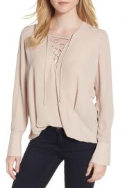 Lace-Up Top Trouve at Nordstrom Rack
