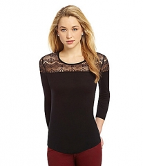Lace Yoke Top by CandC California at Dillards