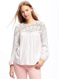 Lace blouse at Old Navy