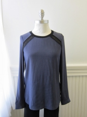 Lace combo blouse by Rebecca Taylor at Prefontaine
