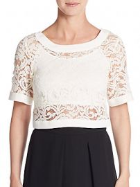 Lace crop top at Saks Off 5th