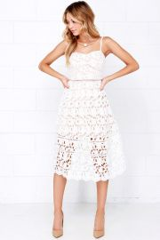 Lace dress at Lulus