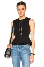 Lace peplum top by Alexander Wang at Forward by Elyse Walker