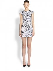 Lace print dress by Alexander McQueen at Saks Fifth Avenue