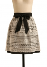 Lace skirt with tie waist  at Modcloth