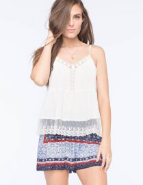 Lace tank by Patrons of Peace at Tillys