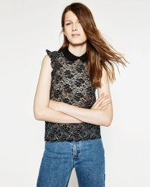Lace top at Zara
