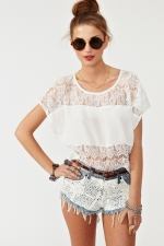 Lace top from Nasty Gal at Nasty Gal