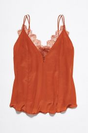 Lace trim cami at Free People