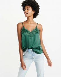 Lace trim cami at Abercrombie & Fitch