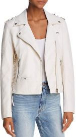 Lace-up Faux Leather Moto Jacket by BlankNYC at Bloomingdales