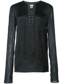 Lace-up Long Sleeve Top by Jason Wu at Farfetch