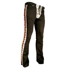 Lace up custom pants at Forgotten Saints