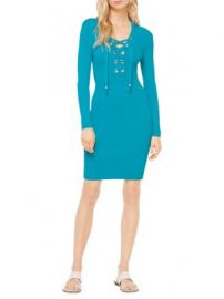 Lace up dress by MICHAEL Michael Kors at Lord & Taylor