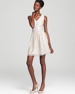 Lace v-neck dress at Bloomingdales