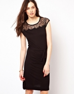 Lace yoke dress by French Connection at Asos