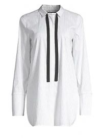 Lafayette 148 New York - Annaliese Striped Blouse at Saks Fifth Avenue