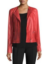 Lafayette 148 New York - Caridee Leather Jacket at Saks Fifth Avenue