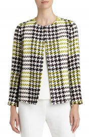 Lafayette 148 New York  Dani  Windsor Plaid Jacket at Nordstrom