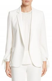 Lafayette 148 New York Bria Finesse Crepe Jacket at Nordstrom