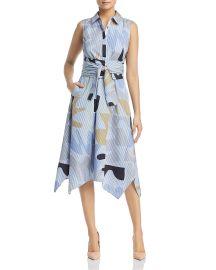 Lafayette 148 New York Cordelia Printed Midi Shirt Dress at Bloomingdales