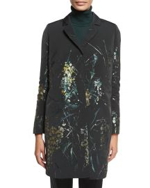 Lafayette 148 New York Genever Painterly Floral Topper Jacket at Neiman Marcus