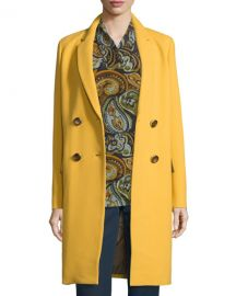Wornontv daisy s medal print dress and yellow coat on for Boden yellow coat