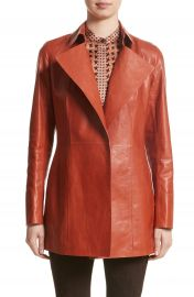 Lafayette 148 New York Leather Trench at Nordstrom