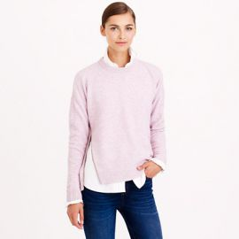 Lambswool zip sweater at J. Crew
