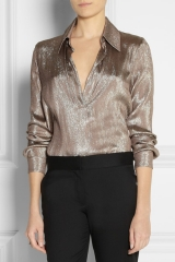 Lame Blouse by Gucci at Net A Porter