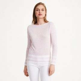 Lana Block Strip Sweater at Club Monaco