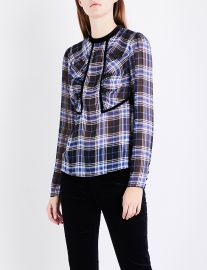 Lancho Checked Chiffon Top by Maje at Selfridges
