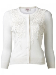 Land39wren Scott Embroidered Knit Cardigan - at Farfetch