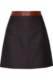 Lanitta leather-trimmed jacquard mini skirt at The Outnet